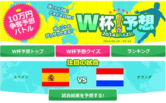 予想ネットのワールドカップ予想ページ
