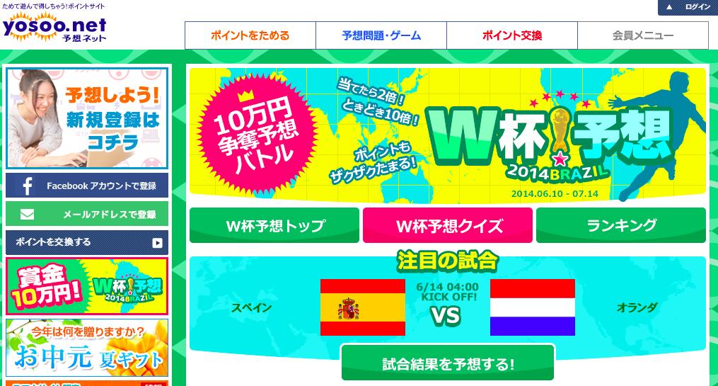 予想ネットのワールドカップページ
