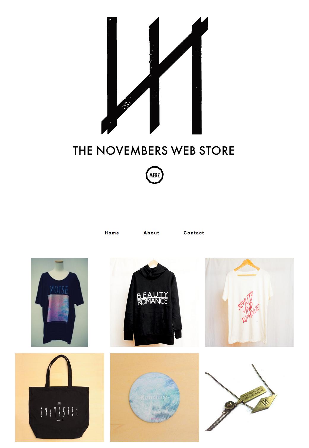 The Novembersの公式グッズのページ