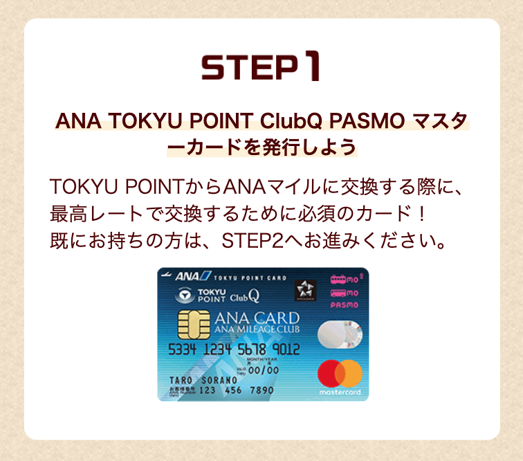 ANA TOKYUカードを発行